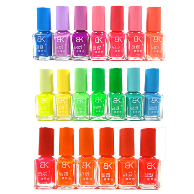 10 Bottles BK Nail Polish 20 Colors optional Candy Color Neon ...