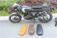 Cafe Racer Seat Universal Motorcycle BLack Seat HUMP MASH RACER SEAT RETRO LOCOMOTIVE CUSHION SIMA black MOTORCYCLE seat SADDLE