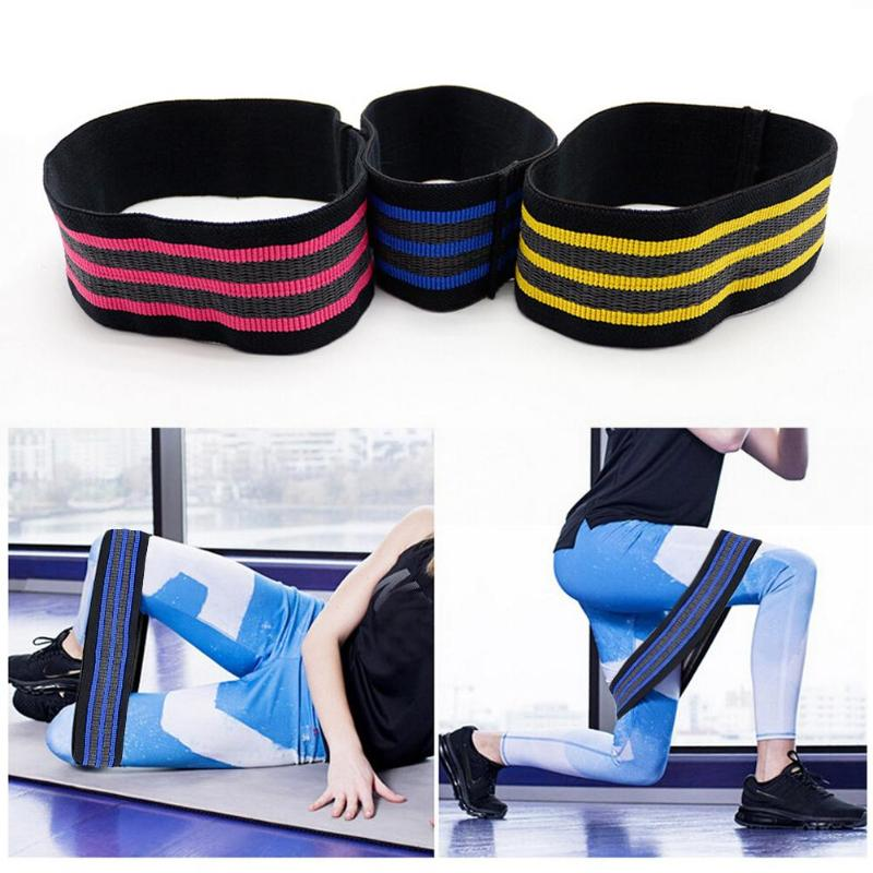 Stretch Elastic Resistance Bands Hip Exercise Body Shape Fitness Tool Latex Cott