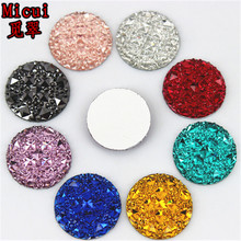 50PCS 20MM Crystal Resin Round flatback Rhinestones Stone Beads Scrapbooking crafts Jewelry Accessories ZZ414