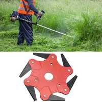 6 Steel Blades Razors 65Mn Lawn Mower Grass Trimmer Head Brushcutter Garden Grass Cutter Tools Spare Parts Trimmer Garden Tools