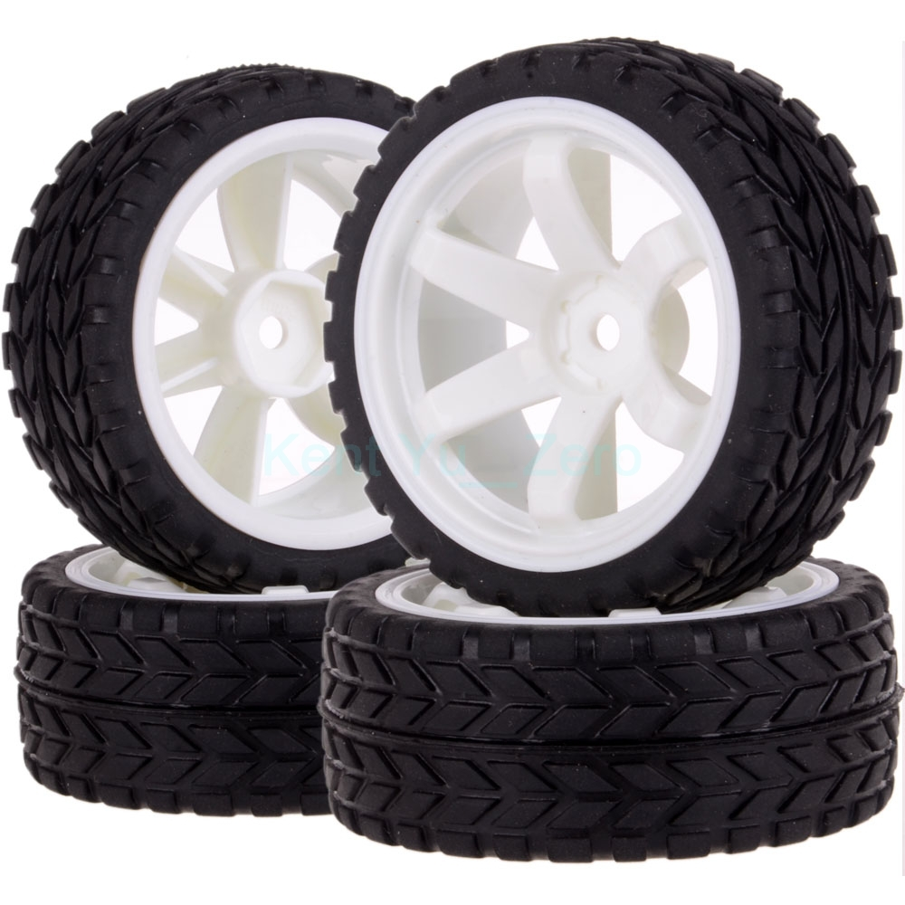 4PCS 12MM Hub HPI Redcat HSP Plastic Wheel Rim & Grip Rubber Tyre,Tires,For RC 1:10 Car On Road,702-6017 4pcs high grip black rubber tyre wheel tires for 1 10 4wd rc on road touring car traxxas tamiya hsp hpi kyosho