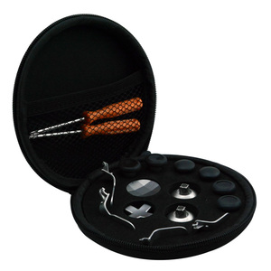 Полный комплект для Xbox One Elite, беспроводной контроллер, 14 шт., Сменные Металлические Джойстики, колпачки для джойстиков, Paddle Dpad, триггерный замок для волос