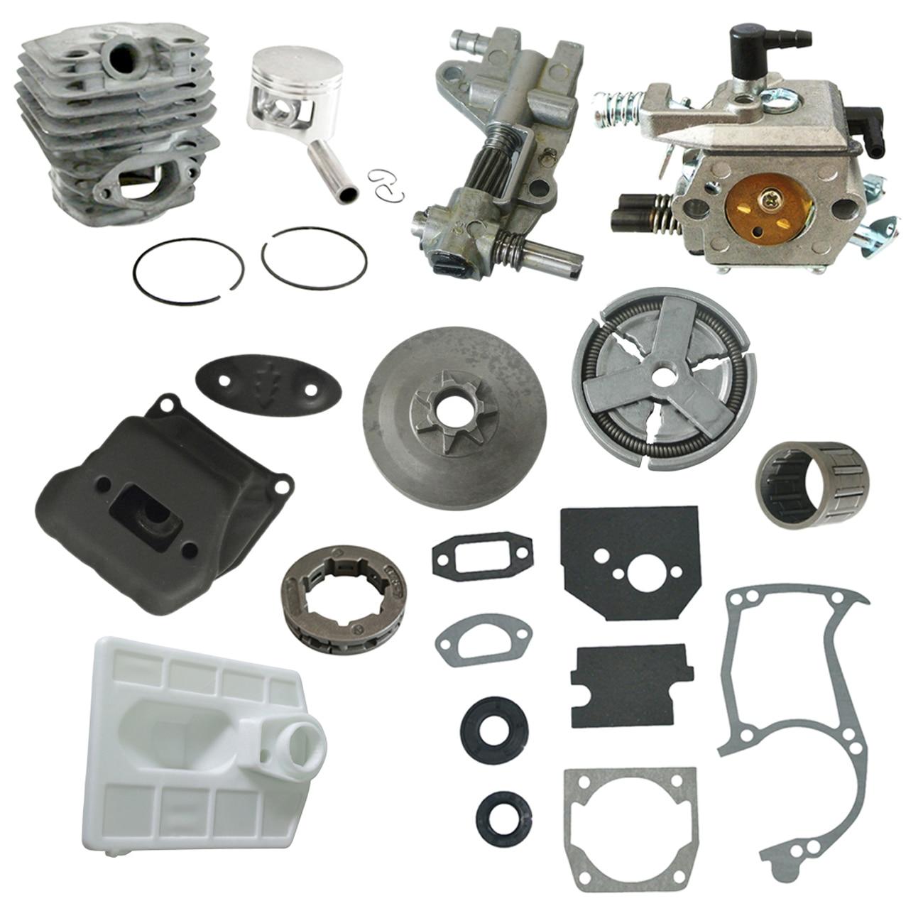 Carburetor Clutch Sprocket Rim Cylinder Exhaust Muffler Kit Fit 5200 Raptor Saw