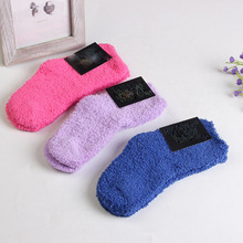 winter to keep warm coral fleece Fashion able sweet candy colors baby socks for 7-12 year baby boy /girls socks