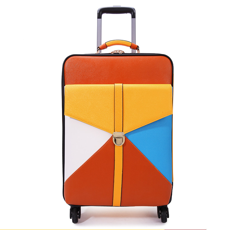 Travel bag trolley luggage wheels female universal colorant match 16 18 20 22 24 luggage box sets,women travel luggage sets wholesale 14 20 24 28inches pc butterfly travel luggage sets 4 pieces universal wheels trolley luggage sets for women