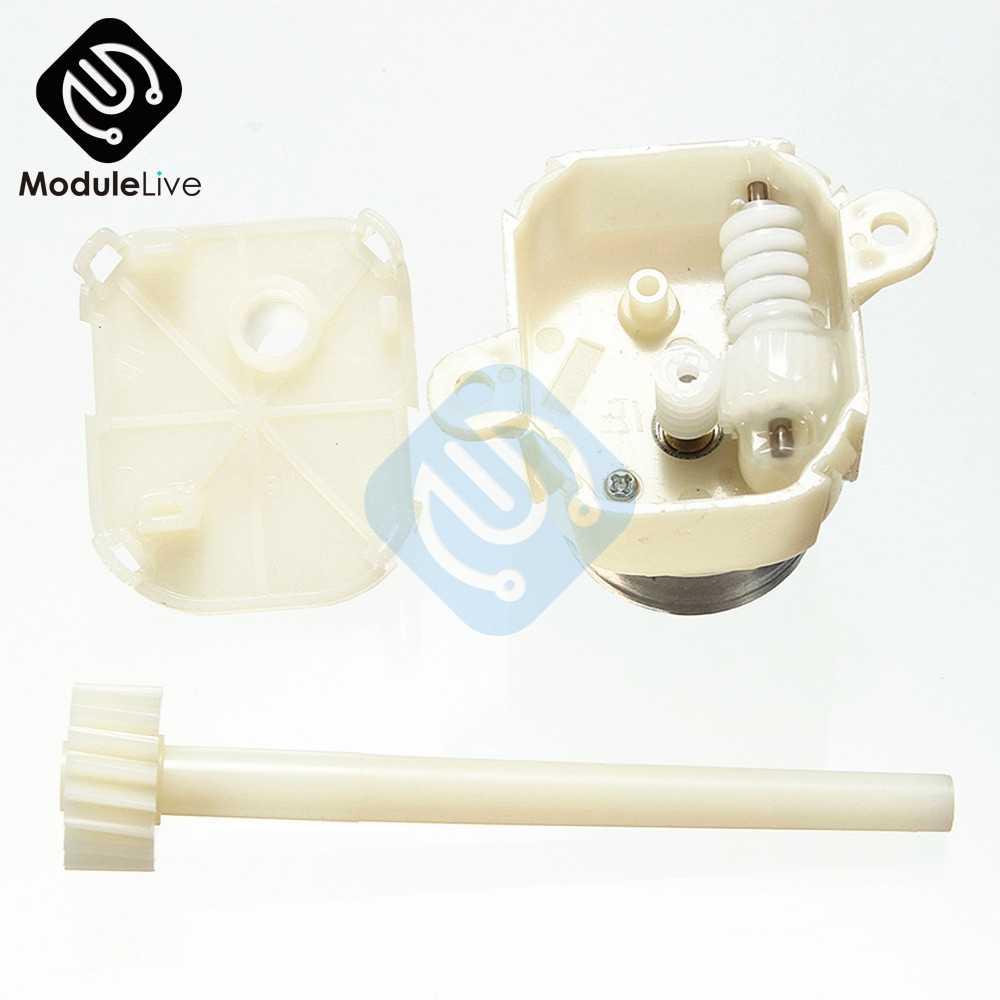Micro Motor DC 6 V 12 V Motor de engranaje de gusano Turbina de eje largo caja de engranajes de reducción lenta como 8- 16 RPM para Hobby de juguete Diy