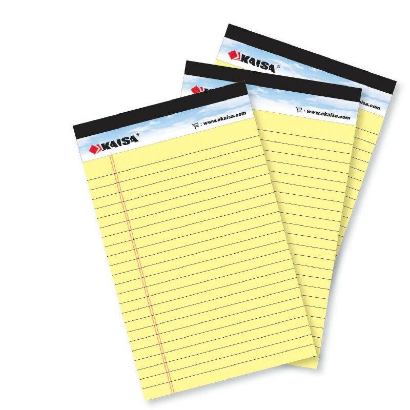 1pad (pces) almofada de memorando estilo eua almofada legal 50 folhas a5 a4 caderno de papel material escolar de escritório notebooks almofada de escrita
