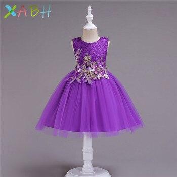 e10215f2c EAZII adolescente chica vestido de la ropa de los niños vestidos de fiesta  para niñas bordado boda fiesta de disfraces niños traje de Carnaval