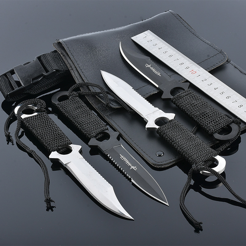 4pcs/set high quality Swiss Puttee straight knife outdoor survival portable Army Knife tool Counter Strike Tactical Knife high quality stainless steel multifunction 11 in 1 travel tool kit swiss style army knife