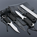 4pcs/set  high quality Swiss Puttee straight knife outdoor survival portable Army Knife tool Counter Strike Tactical Knife