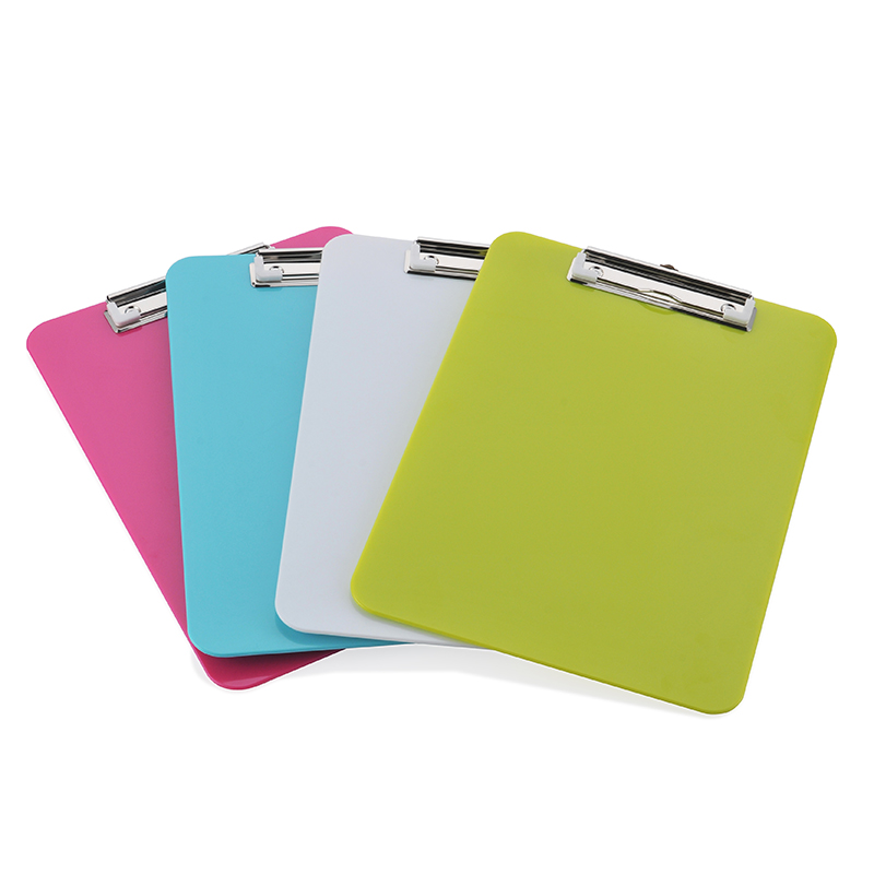 High Quality PP A4 Exam Paper Promotional Material Business Document File Folder Plastic Clipboard Office School Supplies