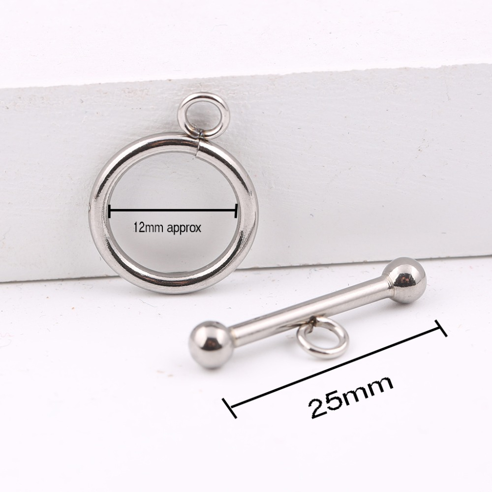 onwear 10sets 12x25mm stainless steel jewelry toggle clasps for bracelets making diy connector findings basehome stainless steel magnetic clasps metal connector fit 8x3 10x3 15x3mm flat leather cord bracelets findings diy jewelry