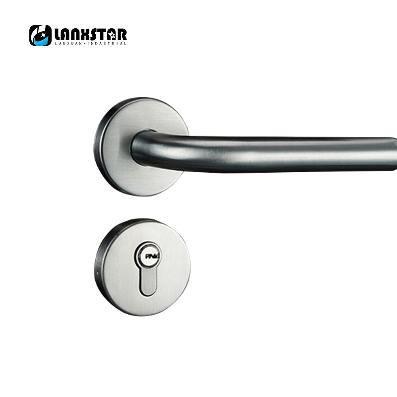 Factory Homegrown Supply High Quality Stainless Steel Lock Indoor Door Locks Mute Lockcore Handle-lock high quality qrignal best selling 304 stainless steel glass door lock with keys factory direct price