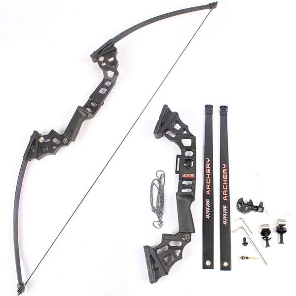 Straight Bow Hunting fishing Long Bow Recurve Bow Fiberglass Limb Foldable Aluminum Handle hunting bow