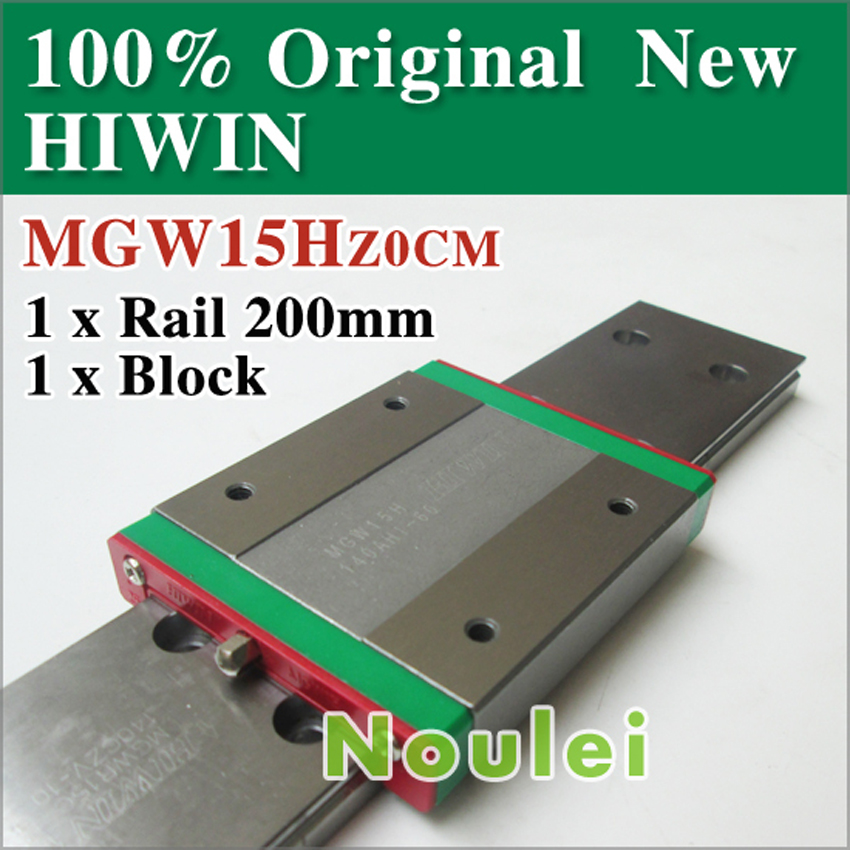 mini cnc parts MGW15 HIWIN MGW15H 42 mm Linear guide rail with sliding block MGW 15 series class C free shipping to argentina 2 pcs hgr25 3000mm and hgw25c 4pcs hiwin from taiwan linear guide rail