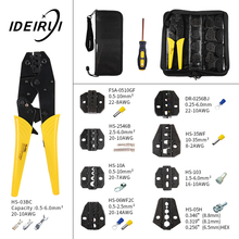 цена на HS-03BC Wire Terminal Crimper Ratchet Plier Jaw Replacement Clamp Tools Kit 230mm Hand Crimping Tool