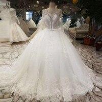 Modabelle Pha Lê Ren White Wedding Dress Bride Vestido De Novia Công Chúa Sexy Backless Sang Trọng Đính Cườm Dài Tay Bridal Gowns