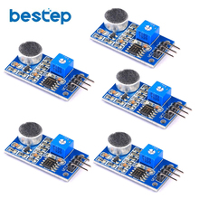 цены 5pcs/lot Microphone Noise Decibel Sound Sensor Module 3p/4p Interface for Arduino FZ0166 Free Shipping
