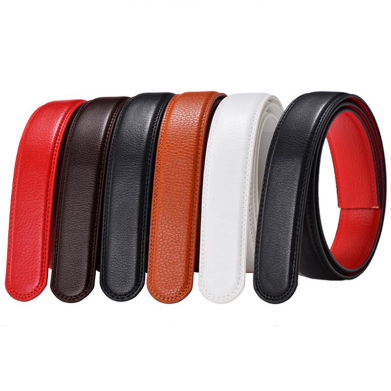 No Buckle   Belt   Body Strap Without Buckle   Belts   Mens Good Quality Male Black Coffee White Red   Belts   Automatic Buckle   Belt   For Men