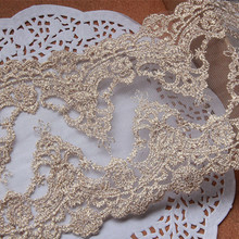 5yards/lot Gold Embroidery Lace Trim,Sewing Fabric DIY Garme