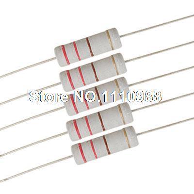 500V Flameproof Metal Oxide Film 2/% Tolerance Pack of 2 2W Inc. 2.7 Kilo Ohm Resistance NTE Electronics 2W227 Resistor Axial Leaded