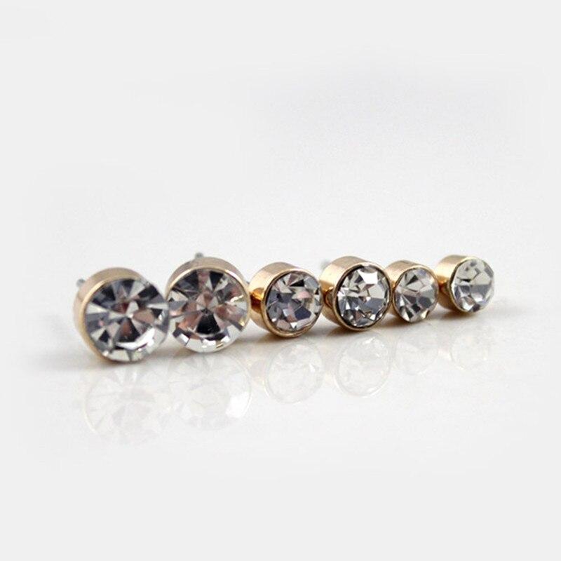 Fashion Elegant Tiny Crystal Stud Earrings Set Earrings Jewelry Women Jewelry