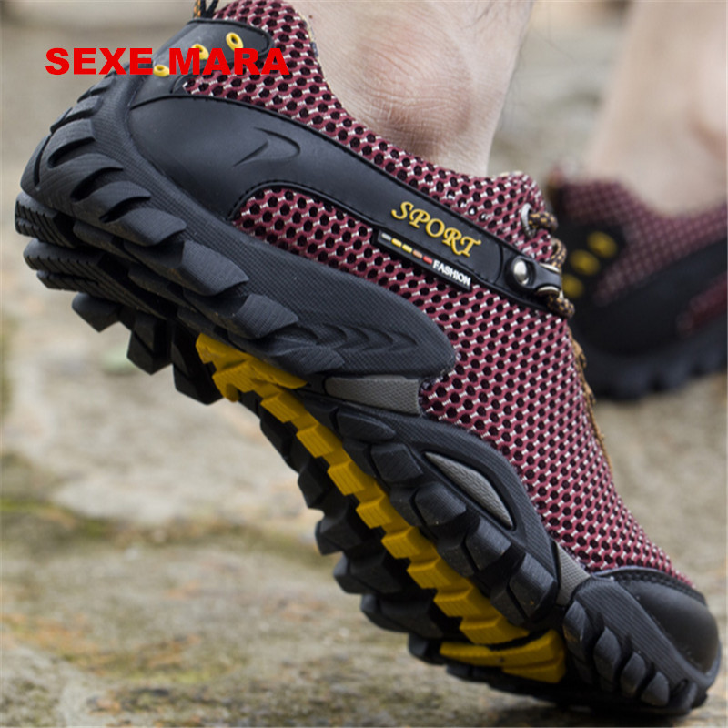 цена 2017 Outdoor Sport Shoes men Sneakers men shoes Running Shoes for men Brand Anti-skid Off-road Jogging Walking Trainers HG71