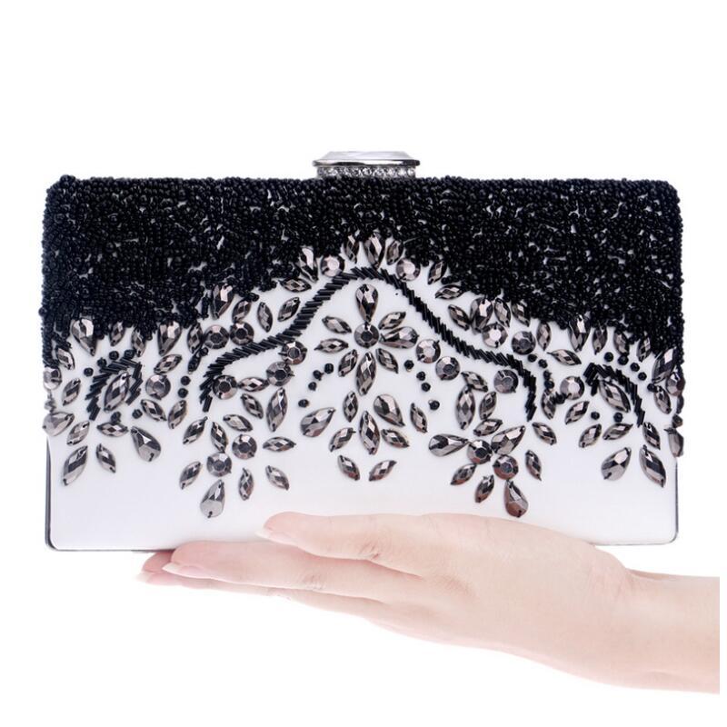 Luxy Moon New vintage clutch beaded evening bags handmade purse chains handbags summer style beach bag Messenger bags w205