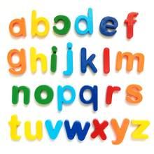 Детские Игрушки для раннего развития, магнитные буквы, цифровые магнитные наклейки, английские буквы, пластиковые наклейки на холодильник