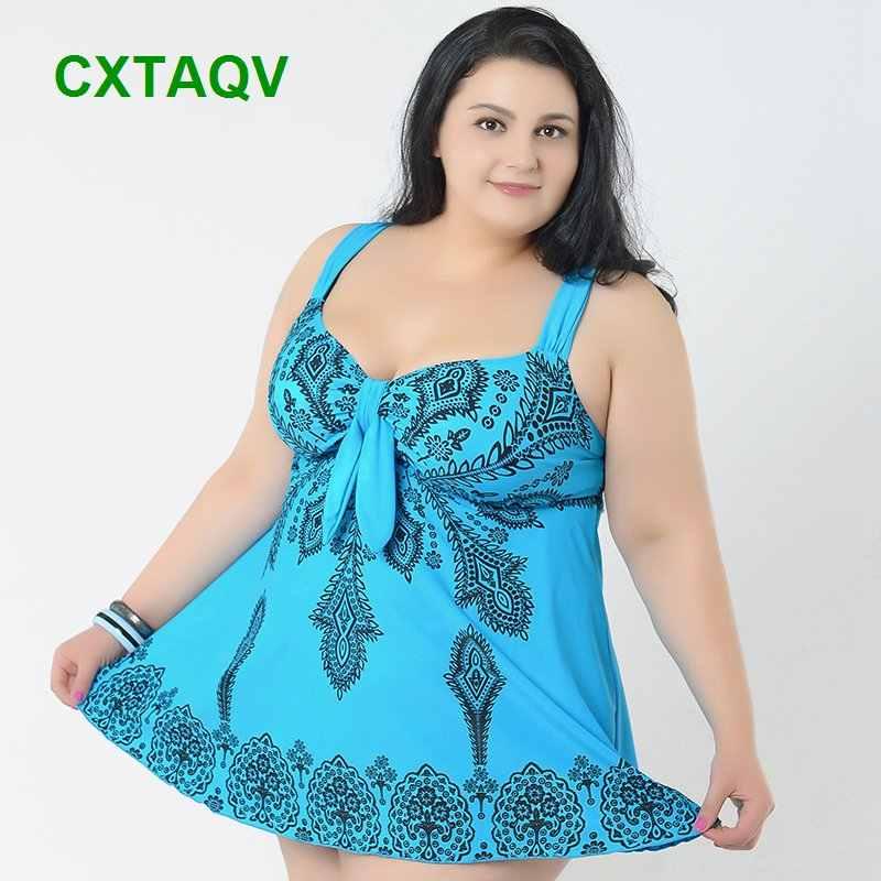 Vestido de natação de alta elástica super grande, roupa de banho slim estilo tankini 4xl-10xl venda de venda