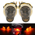 Black Amber Motorcycle 12V Flush bonading Mini LED Turn Signal Lights for Yamaha  YZF R1 R6 R6 SFZ1S FAZER