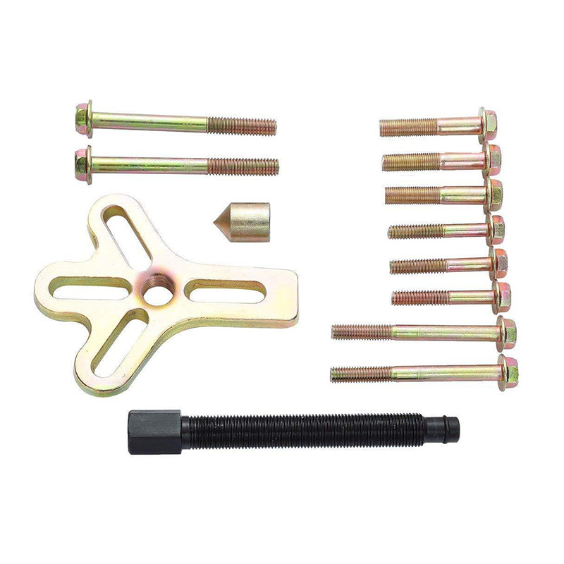 Car Auto Automotive Tools Heavy Duty Crankshaft Gear Pullery Repair Kit  13pcs Harmonic Balancer Steering Wheel Puller Removal