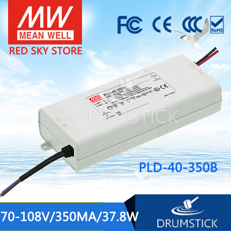 100% Original MEAN WELL PLD-40-350B 108V 350mA meanwell PLD-40 108V 37.8W Single Output LED Switching Power Supply [Hot6] polaroid pld d201 dl5