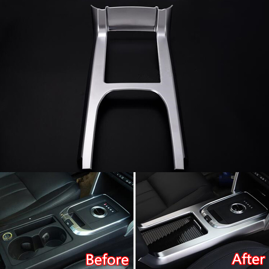 YAQUICKA Car Central Console Gear Shift Panel Frame Trim Styling Cover For Land Rover Discovery Sport 2015 2016 Accessories