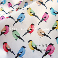 140cm*50cm 1pcs Bird Fabric 100%Cotton Fabric Colourful birds Printed Quilting Fabric Sewing Material DIY PAtchwork For Clothes