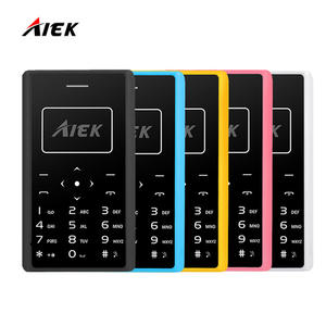 AIEK Ultra Thin Card Mobile Phone 4.8mm 2017 X7 SOYES X6 Low Radiation Card Phone