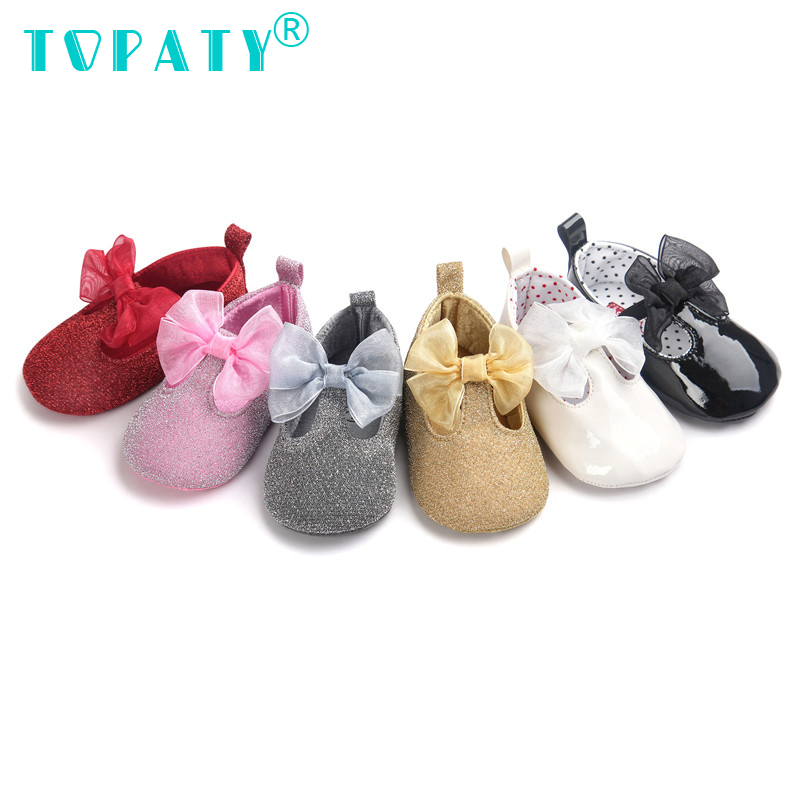 TOPATY Gold powder Baby Girls Princess Toddler Shoes Non-Slip Zapatos bebek ayakkabi Soft Sole Moccasins Bebe menino Sapatos