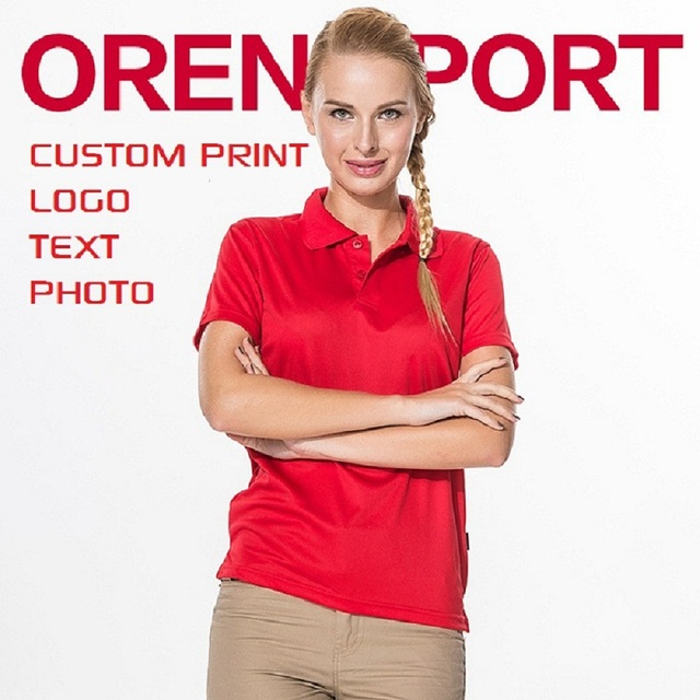 Women Ladies Polo Shirt Slim Adult Polyester Quick Dry Fabric Blank Custom Personalized Print Embroidery Polo Free Shiopping