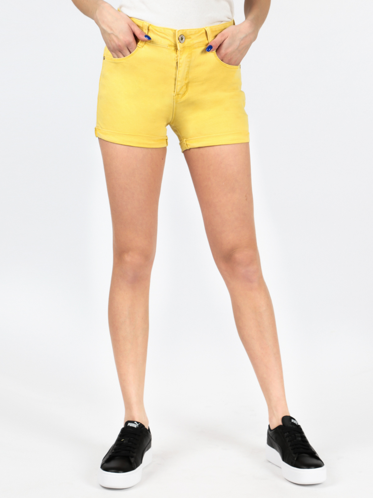 Shorts With Lapels Cotton