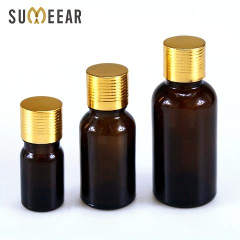 50 pecaslote frascos de vidro ambarino portateis