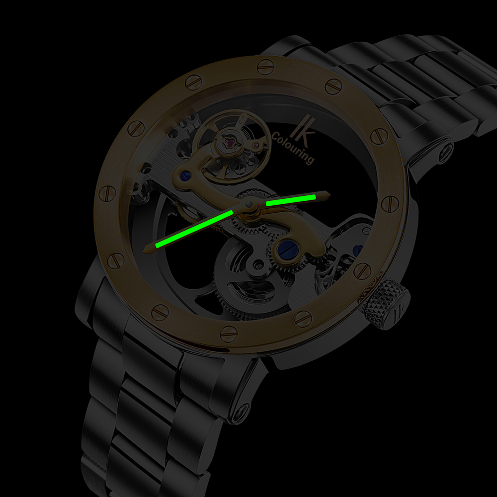IK coloring Mens Watches 5ATM Water Resistant Stainless Steel ...
