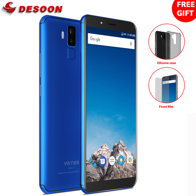 Vernee X1 Mobile Phone 6.0 inch 18:9 FHD 6GB RAM 64GB ROM Android 7.1 Octa Core 16MP Four Cameras 9V 2A Quick Charge Face ID