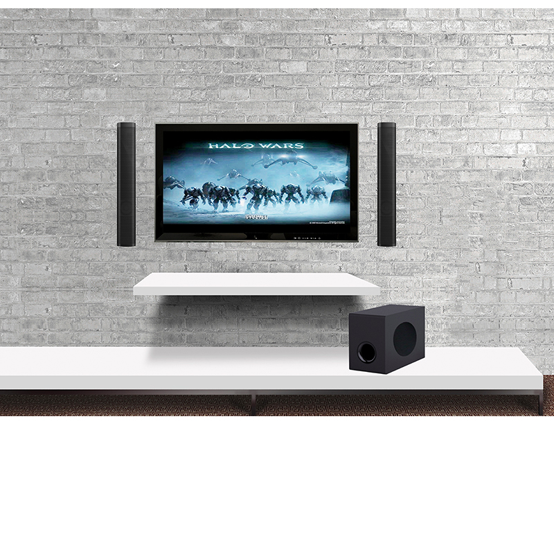 Samtronic 2.1ch 80W Wireless <font><b>bluetooth</b></font> TV Sound Bar <font><b>Speaker</b></font> SubWoofer Surround Stereo Home Theatre System Wall mounted Soundbar image