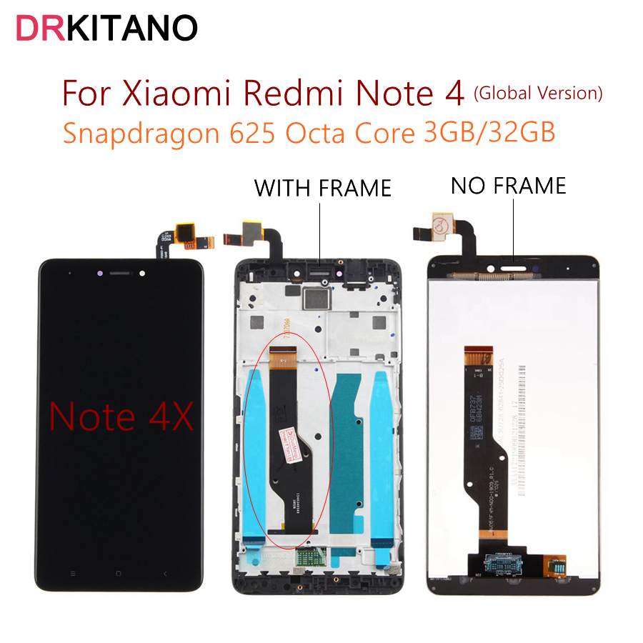 global version xiaomi redmi note 4 4x lcd display touch. Black Bedroom Furniture Sets. Home Design Ideas