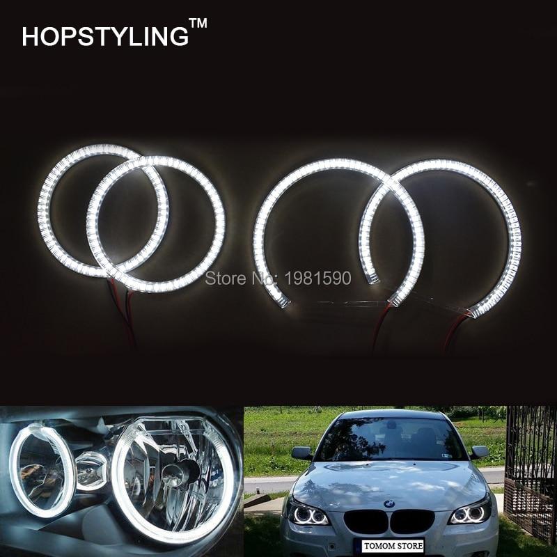Hopstyling 4PCS SMD Angel eye halo rings for BMW E87 Car headlight No Error Dayrunning light