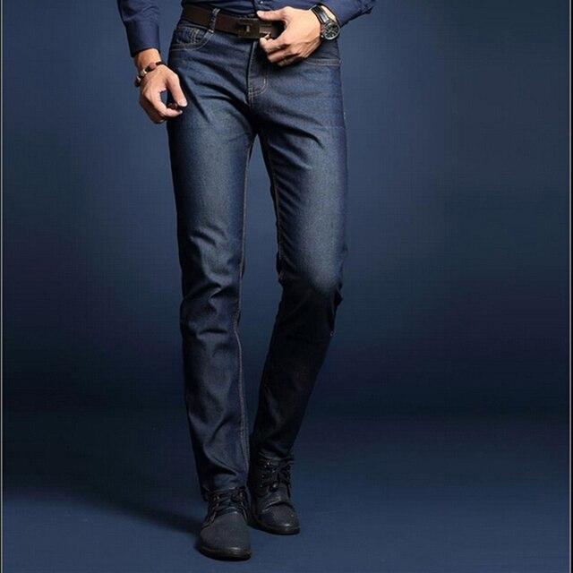 Новый летний бизнес мужские джинсы хорошее качество твердые джинсы мужские легкий бизнес прямые мужские джинсы