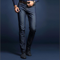 Classic Cotton Men Jeans High Quality Washed Denim Jeans Men Lightweight Business Casual Straight Mens Jeans