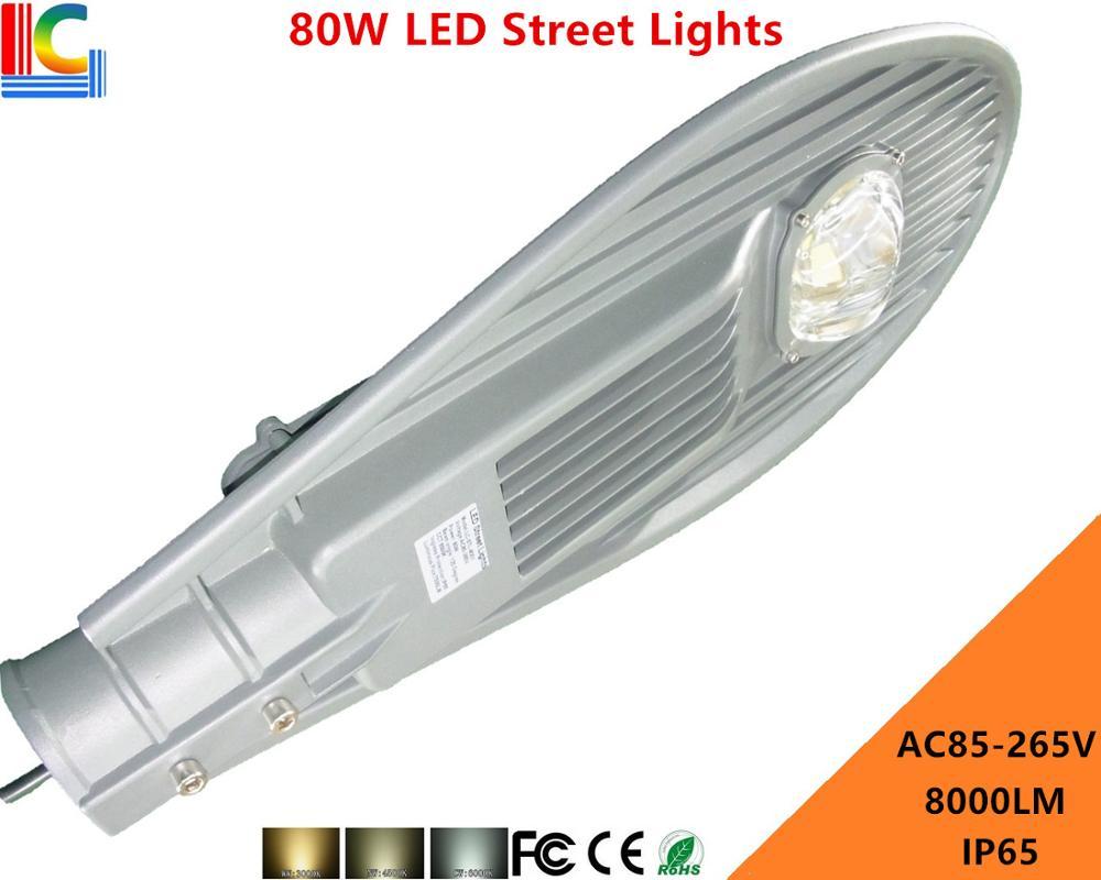 ФОТО Direct Marketing 80W LED Street lights 110V 220V LED Road light Warranty 3 Years LED Garden lamp Outdoor IP65 Waterproof 8000LM