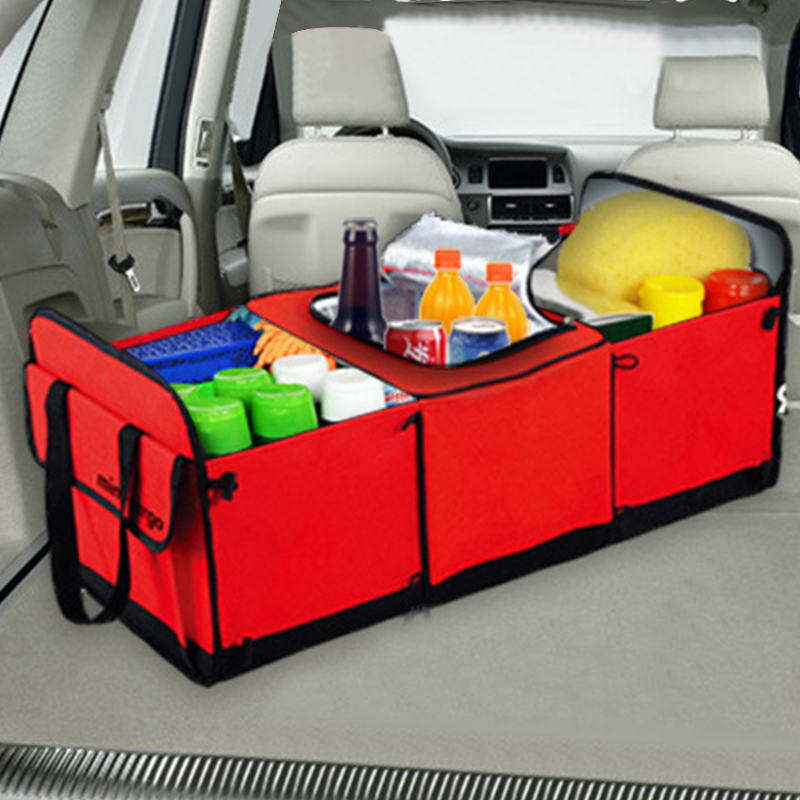 Universal Car Storage Organizer Trunk Collapsible Toys Food Storage Truck Cargo Container Bags Box Black Car Stowing Tidying New(China)